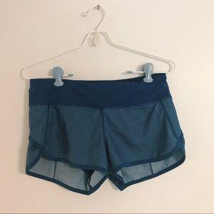 [lululemon] Blue Speedy Running Shorts Diamond Dot